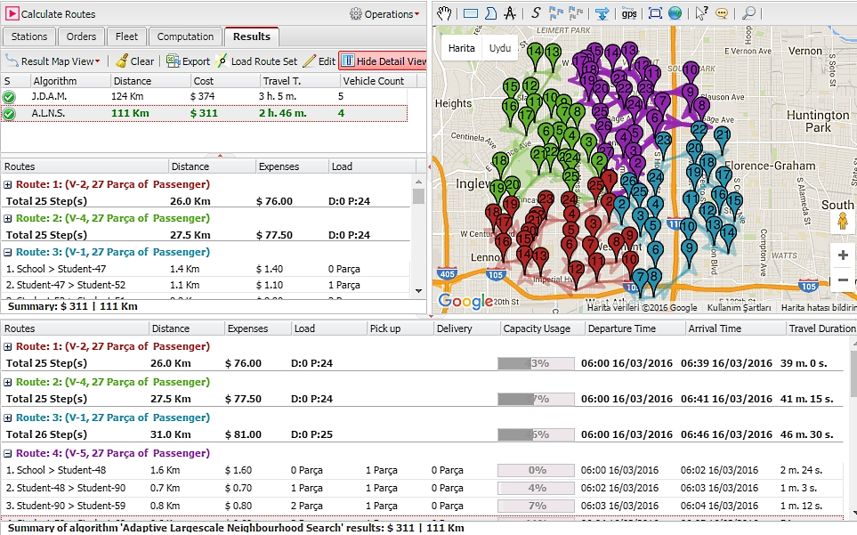 logvrp route optimization and fleet planning web application